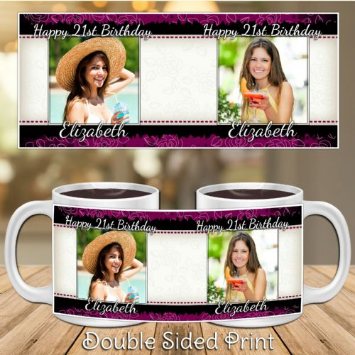 Personalised Happy Birthday PHOTO Mug N29 - Suitable for all ages